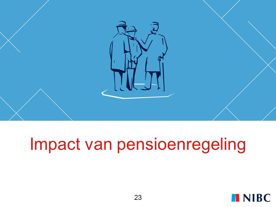 Impact van pensioenregeling 23
