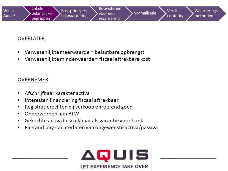 50 Marktgerichte benaderingInkomensgerichte benaderingRendementswaardeDiscounted Cash flow methodeVermogensgerichte benadering Wie is Aquis.