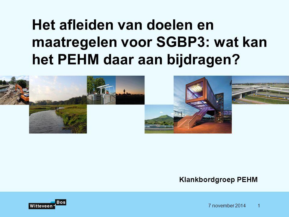 Het afleiden van doelen en maatregelen voor SGBP3: wat kan het PEHM daar aan bijdragen.