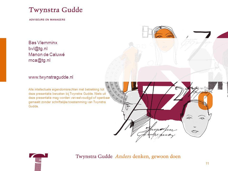 © Twynstra Gudde 14-11-2012 De succesformule van het MKB 11 Alle intellectuele eigendomsrechten met betrekking tot deze presentatie berusten bij Twynstra Gudde.