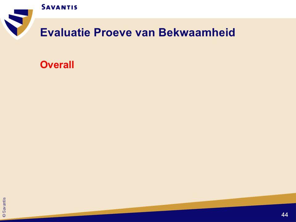© Savantis Evaluatie Proeve van Bekwaamheid Overall 44