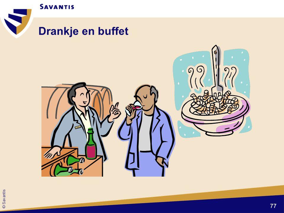 © Savantis Drankje en buffet 77