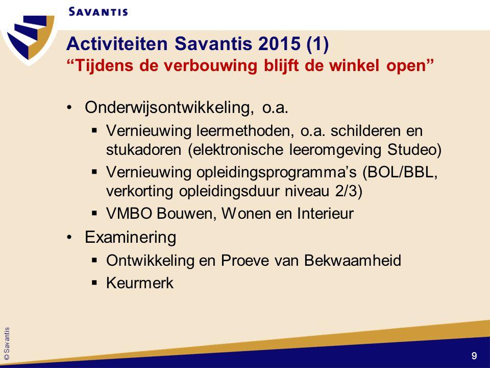 """Activiteiten Savantis 2015 (1) """"Tijdens de verbouwing blijft de winkel open"""" Onderwijsontwikkeling, o.a.  Vernieuwing leermethoden, o.a. schilderen e"""