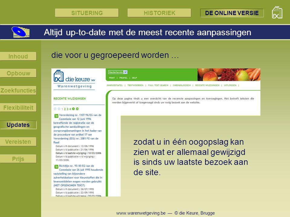 www.warenwetgeving.be — © die Keure, Brugge die voor u gegroepeerd worden … Altijd up-to-date met de meest recente aanpassingen zodat u in één oogopsl