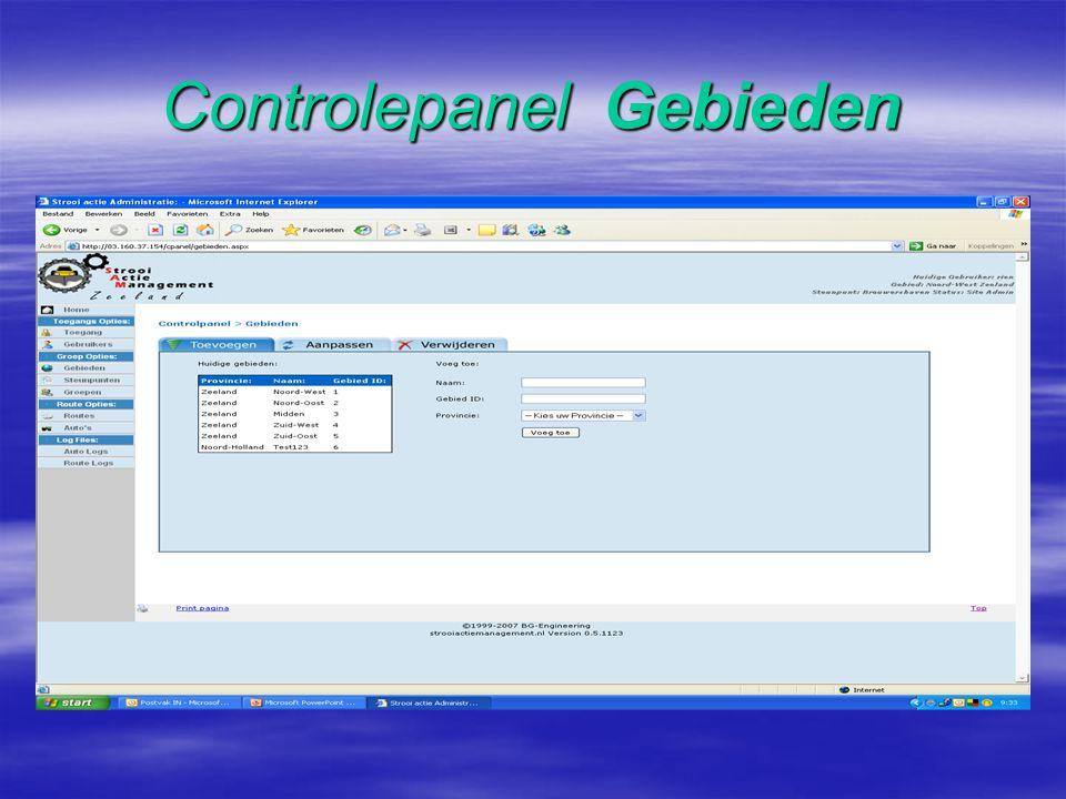 Controlepanel Gebruikers