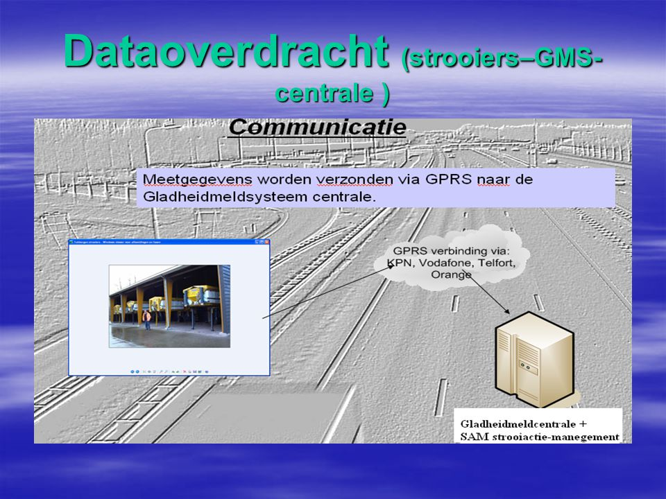 Dataoverdracht (strooiers–GMS- centrale )