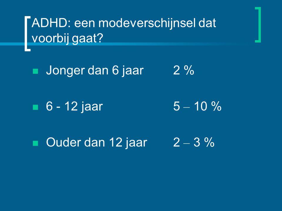 ADHD: een modeverschijnsel dat voorbij gaat.