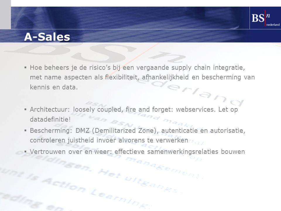 A-Sales  Hoe beheers je de risico's bij een vergaande supply chain integratie, met name aspecten als flexibiliteit, afhankelijkheid en bescherming va