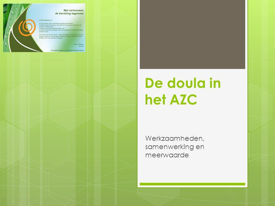 De doula in het AZC Werkzaamheden, samenwerking en meerwaarde