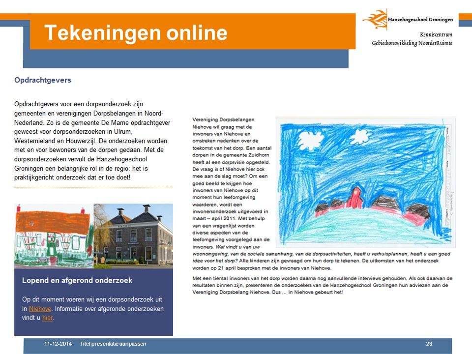 11-12-2014Titel presentatie aanpassen23 Tekeningen online