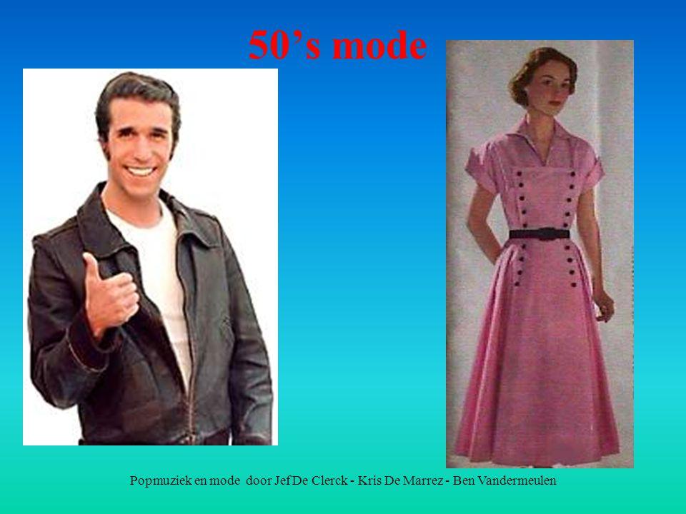 Popmuziek en mode door Jef De Clerck - Kris De Marrez - Ben Vandermeulen 50's mode