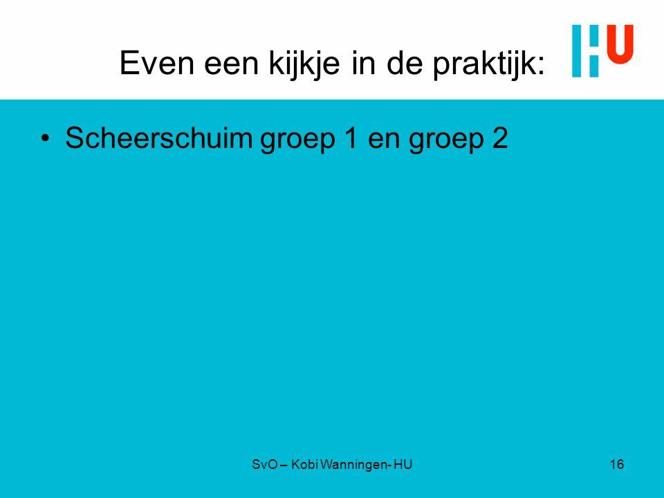 Even een kijkje in de praktijk: Scheerschuim groep 1 en groep 2 SvO – Kobi Wanningen- HU16