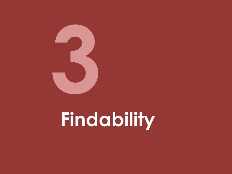 3 Findability