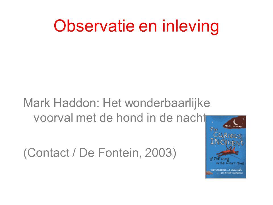 Observatie en inleving Mark Haddon: Het wonderbaarlijke voorval met de hond in de nacht (Contact / De Fontein, 2003)