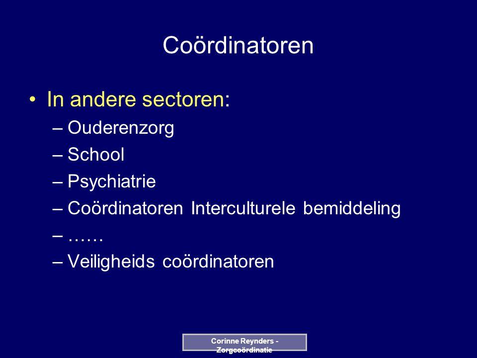 Patiënt Medisch Nursing Paramedisch Logistieke Facilitaire Patient-oriented Corinne Reynders - Zorgcoördinatie