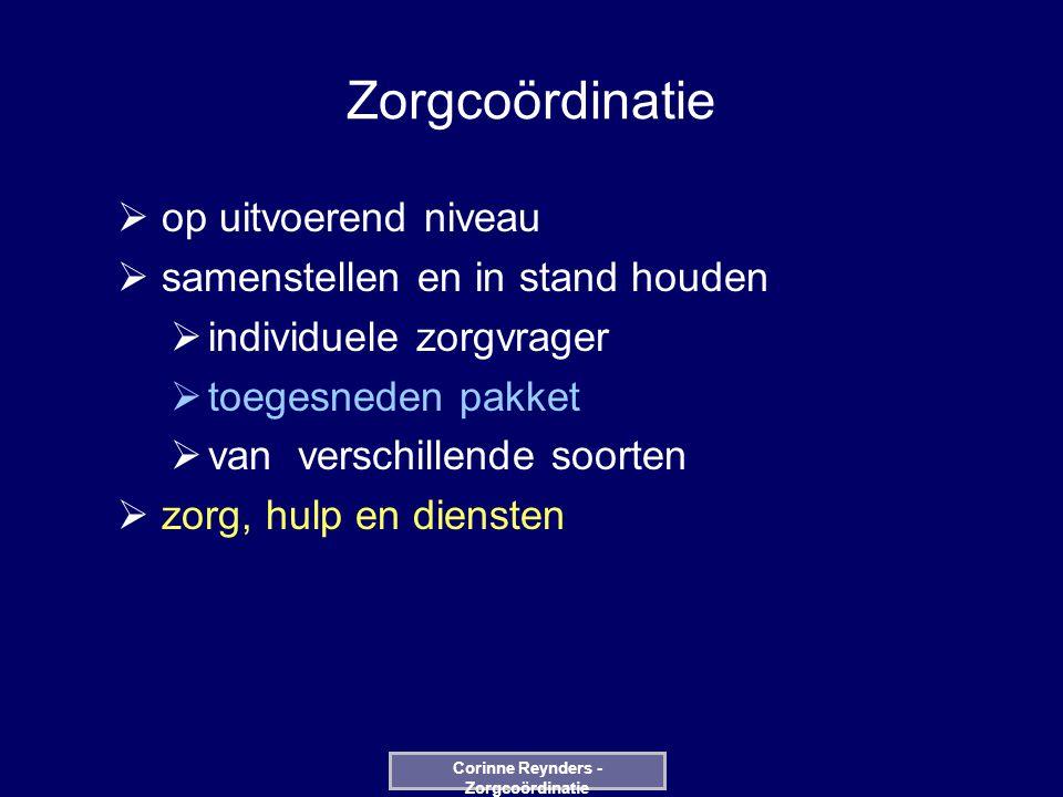 REGISTRATIE DATABASE UPDATE bij iedere FASE EDIT Corinne Reynders - Zorgcoördinatie