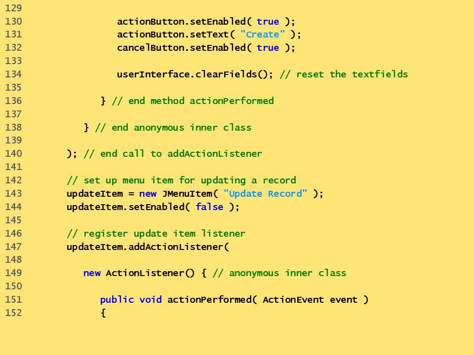 129 130 actionButton.setEnabled( true ); 131 actionButton.setText(