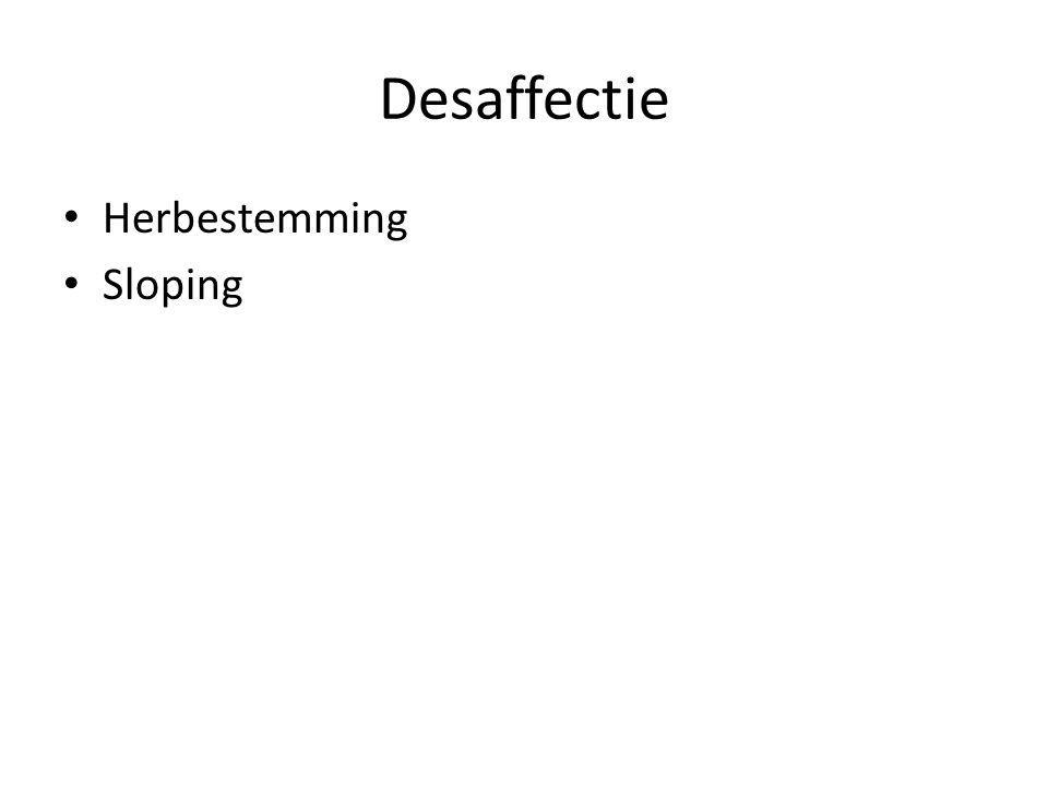 Desaffectie Herbestemming Sloping