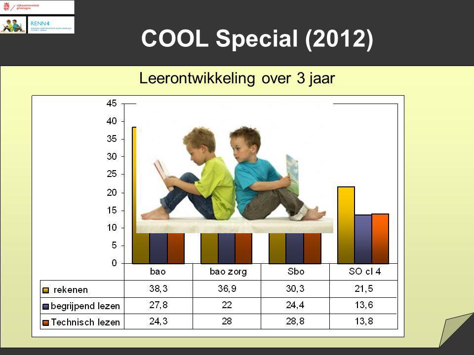 Cohort / Cohort Onderzoek / Study Onderwijs / Education Loopbanen / Careers Special education Leerontwikkeling over 3 jaar COOL Special (2012)