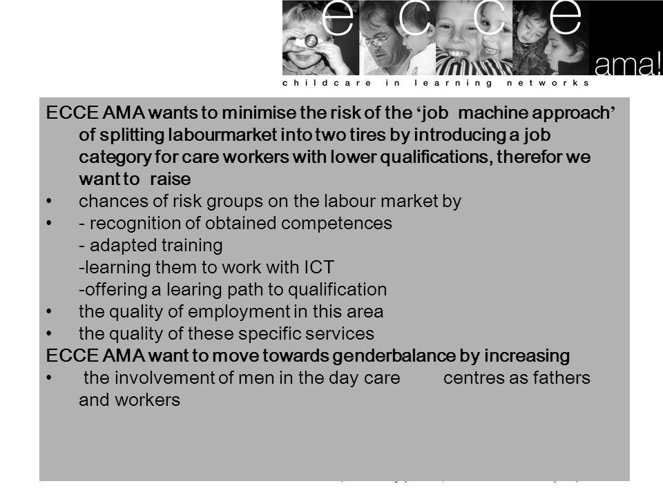 ecce ama! Is een EQUAL project van ESF: bijdragen tot de ontwikkeling van de werkgelegenheid door hebevorderen van inztbaarheid, ondernemerschap, anpa