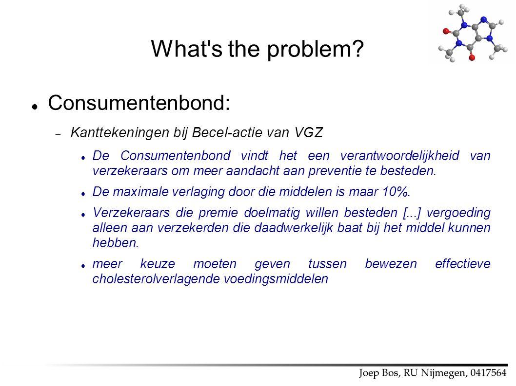 What's the problem? Consumentenbond:  Kanttekeningen bij Becel-actie van VGZ De Consumentenbond vindt het een verantwoordelijkheid van verzekeraars o