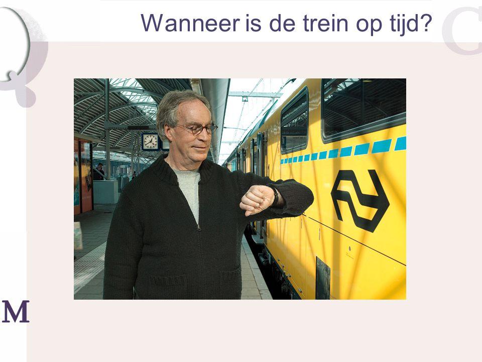 Wanneer is de trein op tijd