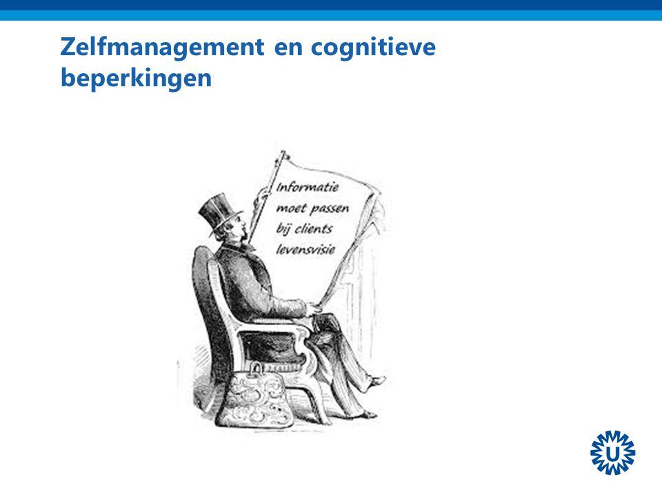 Zelfmanagement en cognitieve beperkingen
