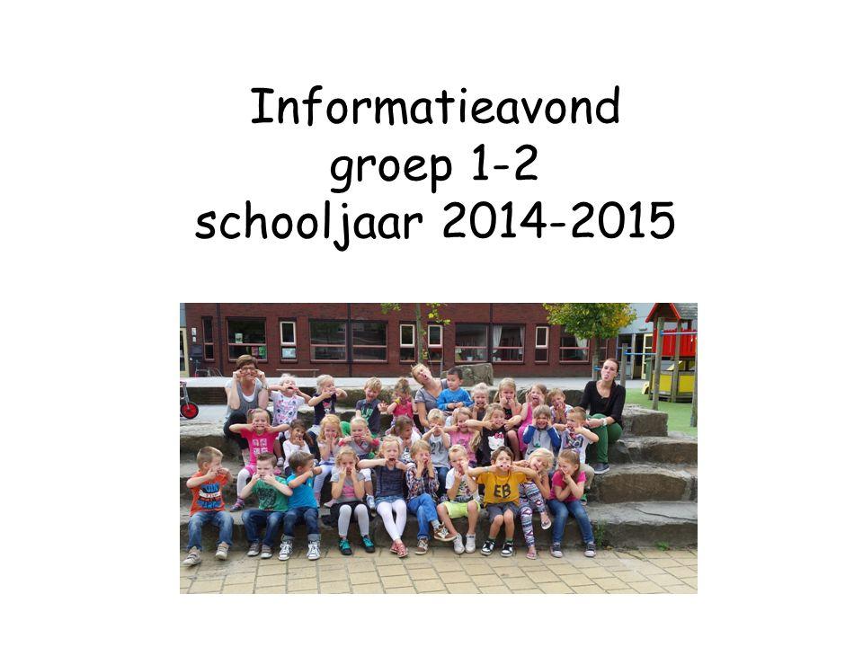 Informatieavond groep 1-2 schooljaar 2014-2015