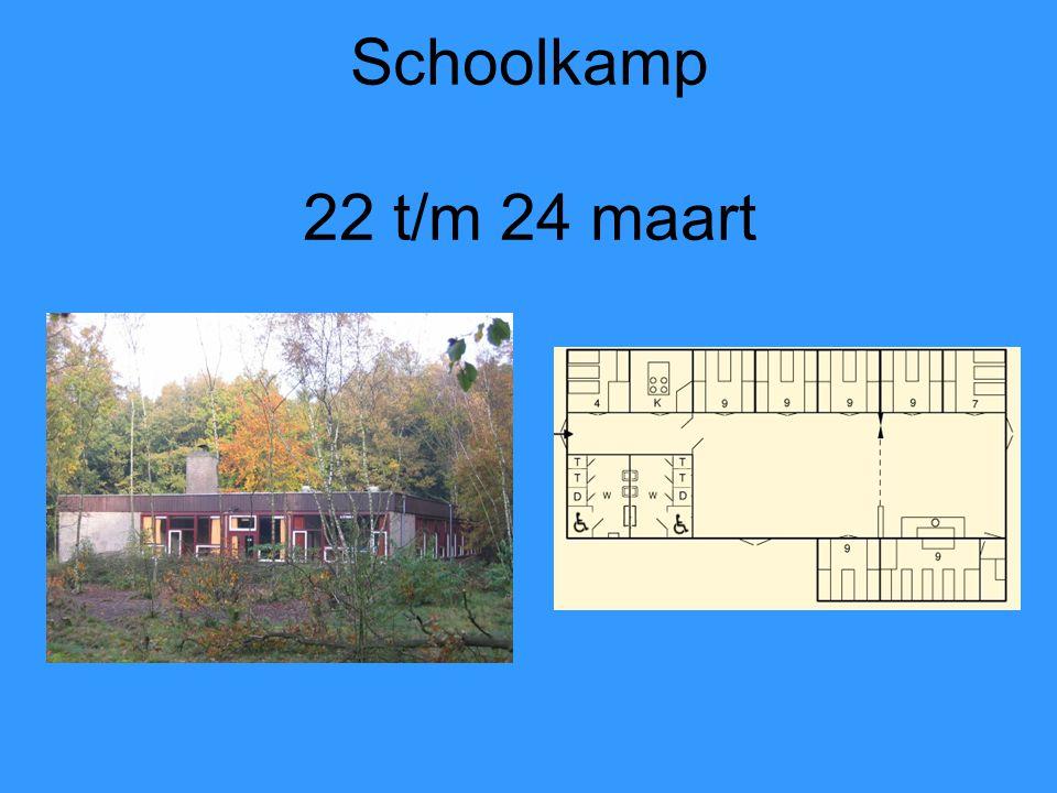Schoolkamp 22 t/m 24 maart