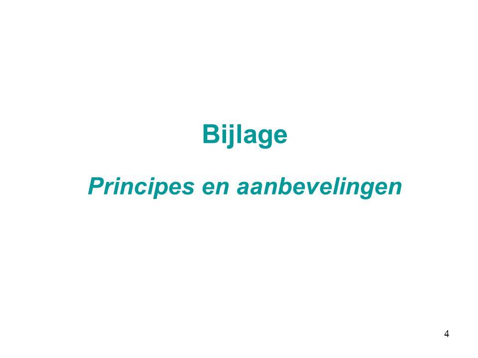 4 Bijlage Principes en aanbevelingen