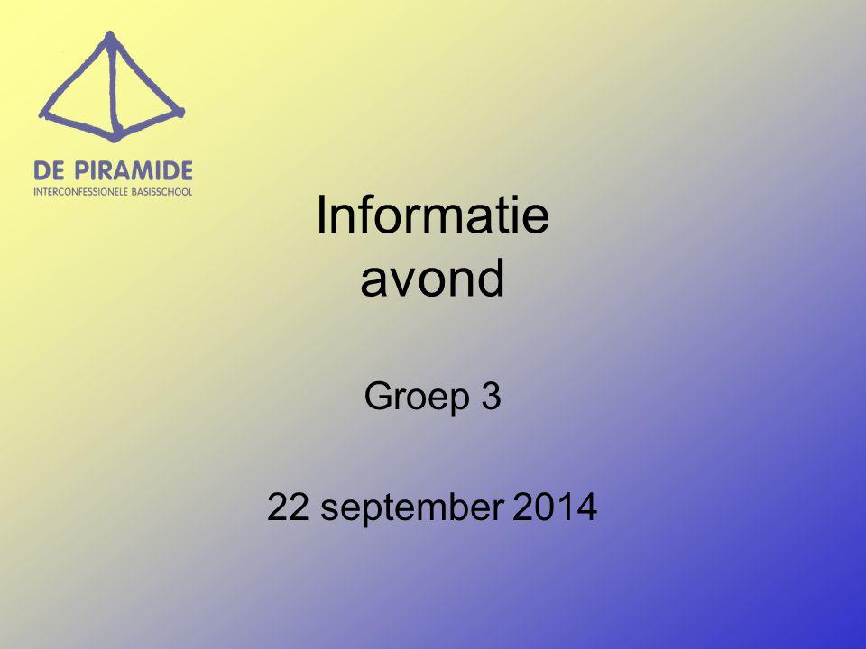 Informatie avond Groep 3 22 september 2014