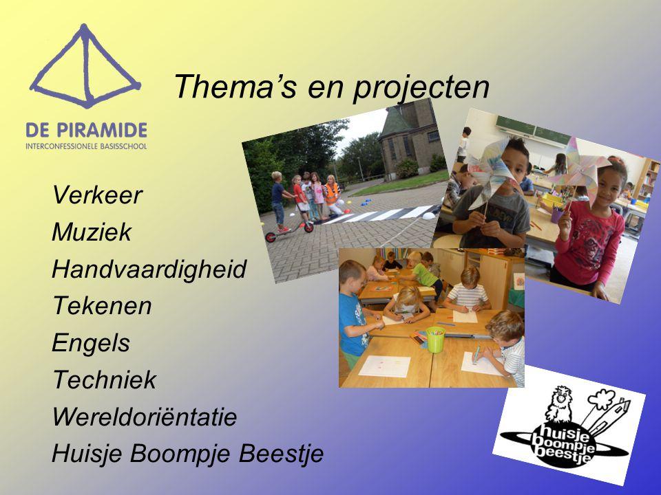 Verkeer Muziek Handvaardigheid Tekenen Engels Techniek Wereldoriëntatie Huisje Boompje Beestje Thema's en projecten
