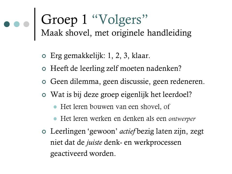 Groep 1 Volgers Maak shovel, met originele handleiding Erg gemakkelijk: 1, 2, 3, klaar.