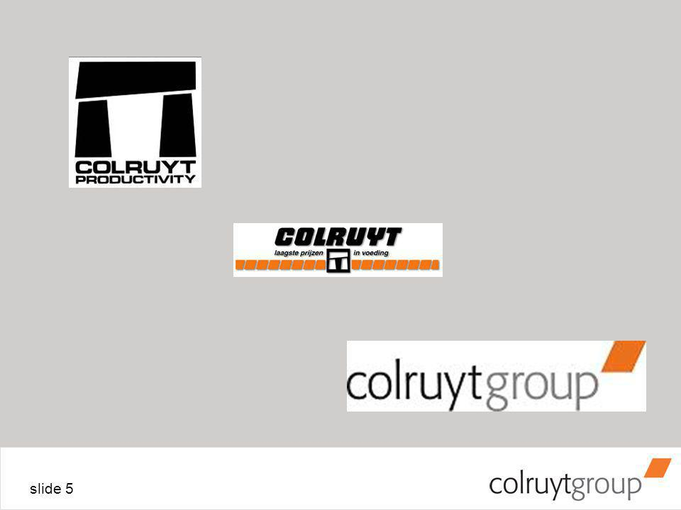 slide 6 Van Colruyt naar Colruytgroup Verandering door Groei Groei door Verandering