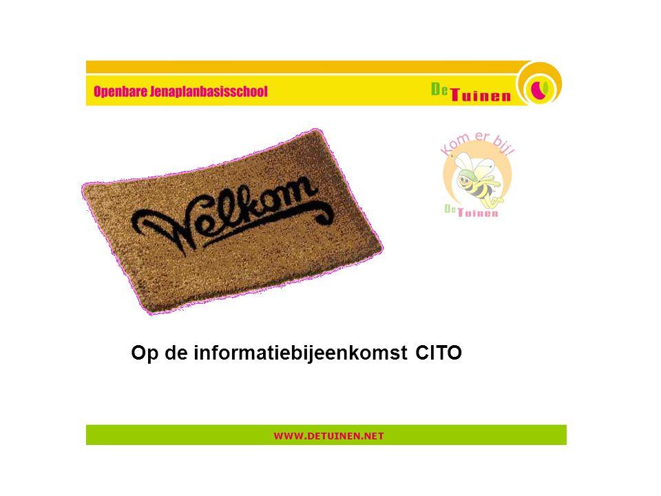 Op de informatiebijeenkomst CITO