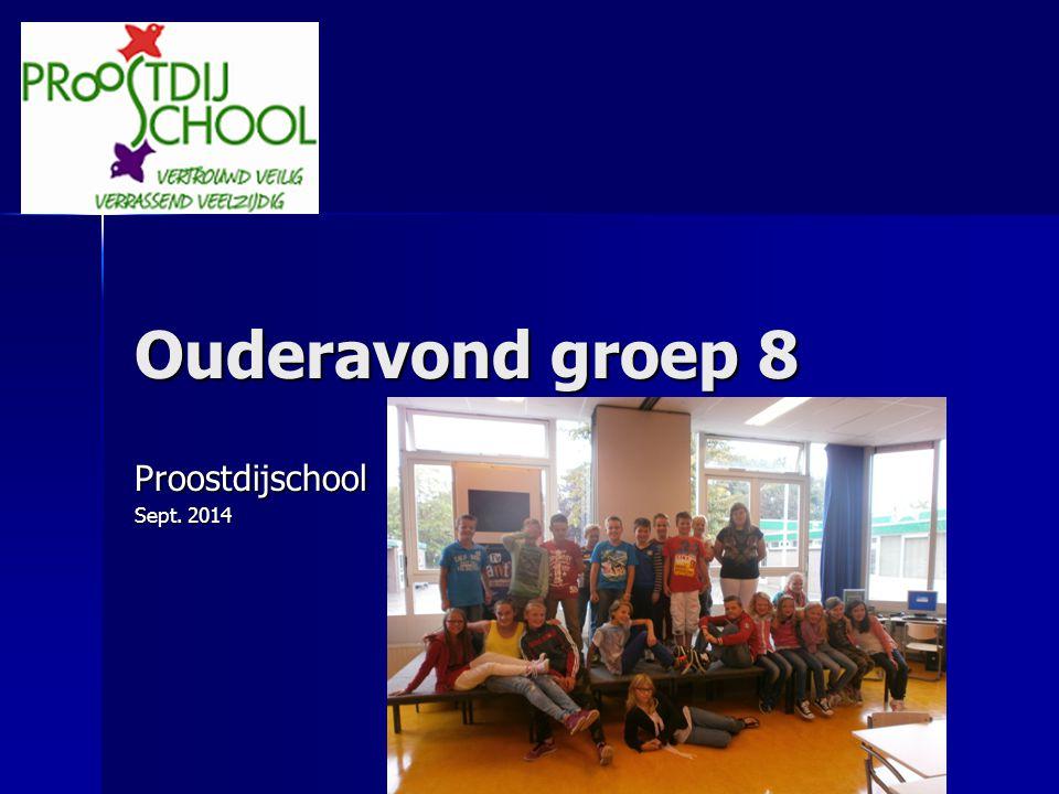 Ouderavond groep 8 Proostdijschool Sept. 2014