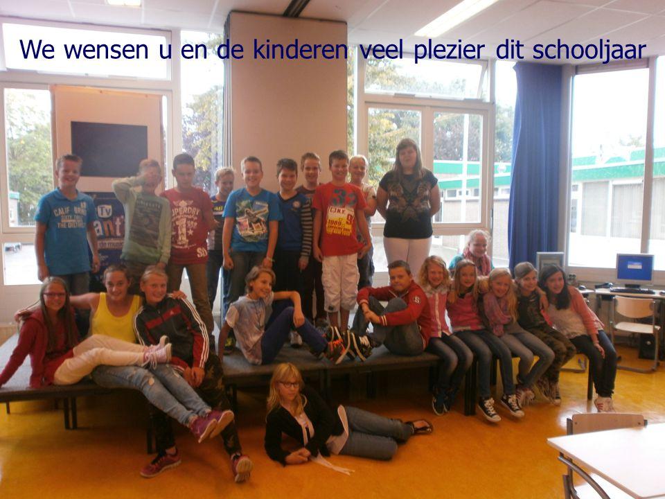 We wensen u en de kinderen veel plezier dit schooljaar