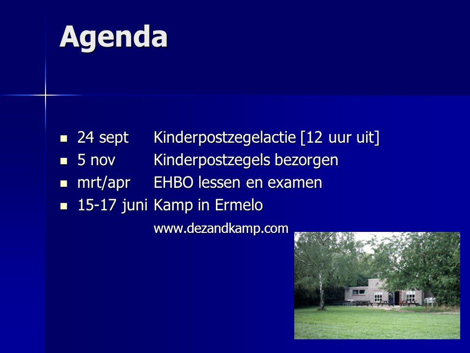 Agenda 24 septKinderpostzegelactie [12 uur uit] 24 septKinderpostzegelactie [12 uur uit] 5 novKinderpostzegels bezorgen 5 novKinderpostzegels bezorgen