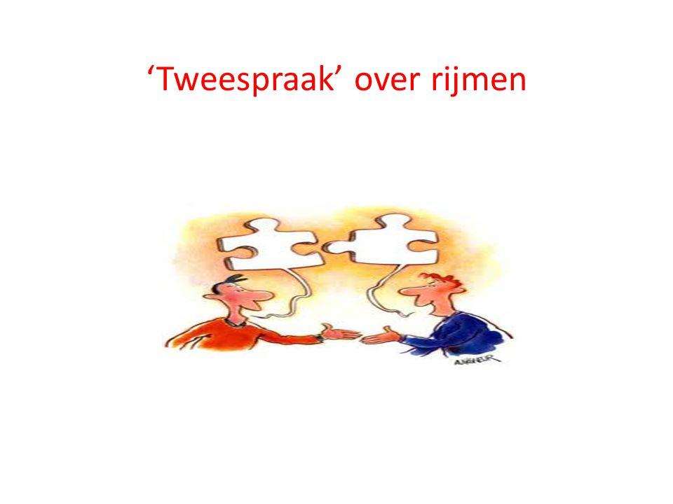 'Tweespraak' over rijmen
