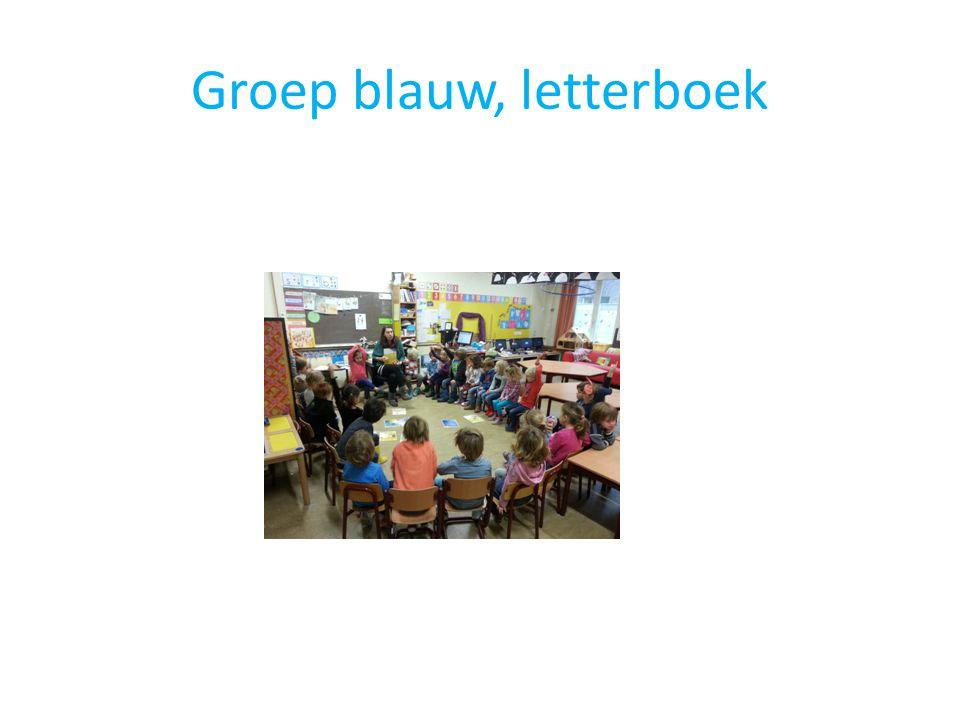 Groep blauw, letterboek