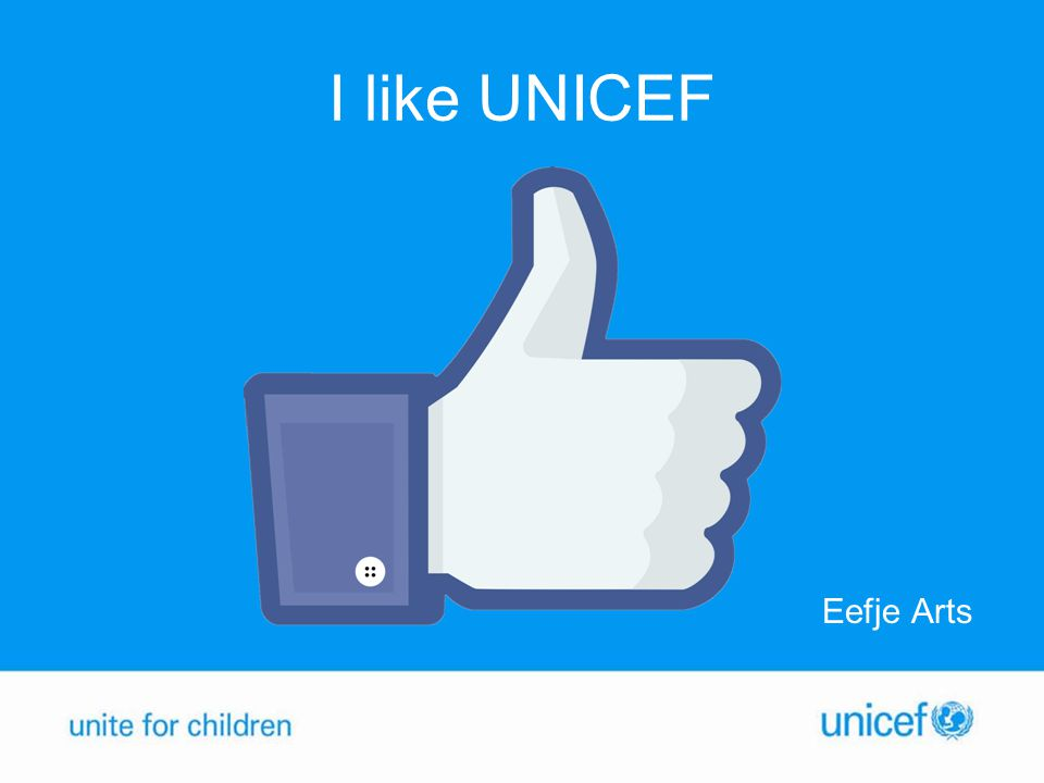 I like UNICEF Eefje Arts