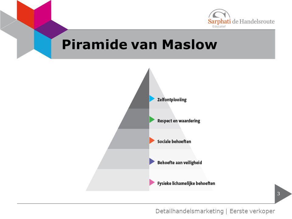 Piramide van Maslow 3 Detailhandelsmarketing | Eerste verkoper
