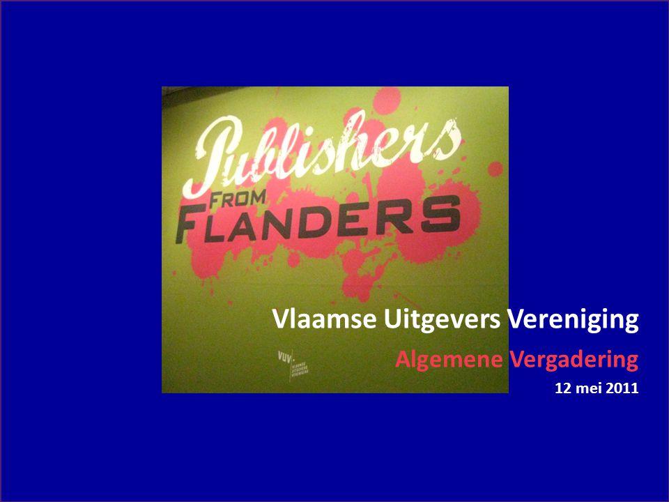 Vlaamse Uitgevers Vereniging Algemene Vergadering 12 mei 2011