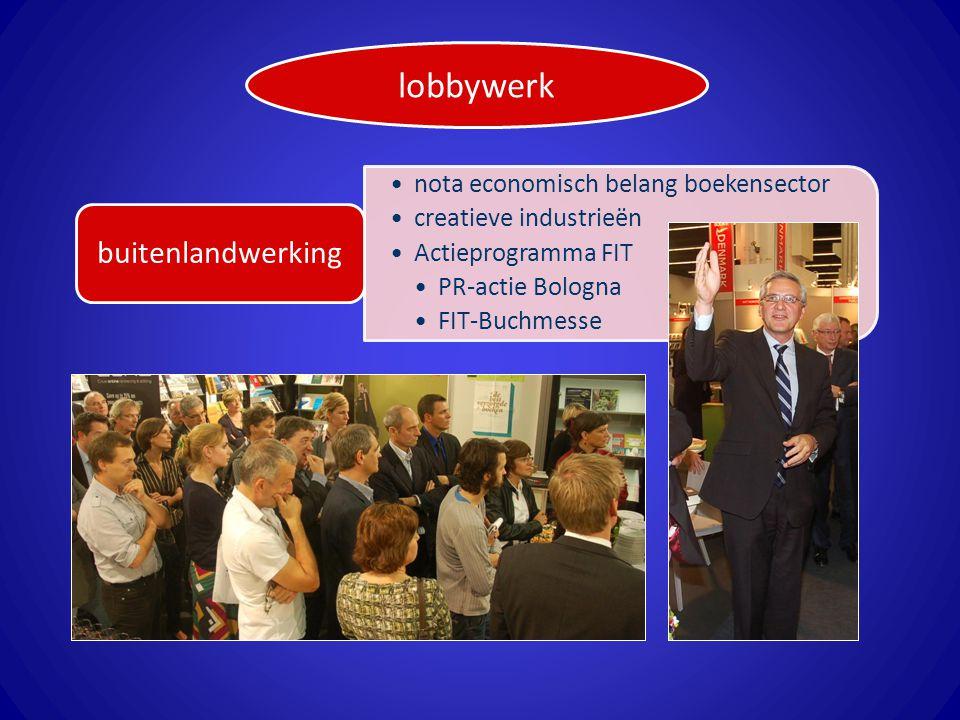 nota economisch belang boekensector creatieve industrieën Actieprogramma FIT PR-actie Bologna FIT-Buchmesse buitenlandwerking lobbywerk