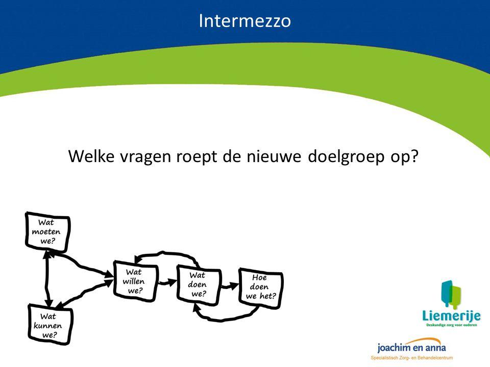 Intermezzo Welke vragen roept de nieuwe doelgroep op?