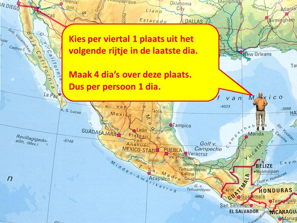 De eerste 3 hoofdstukken gaan over Mexico en de VS. In paragraaf 1 gaan we kennismaken met het grensgebied. Hoe ziet het er daar uit? Kies per viertal
