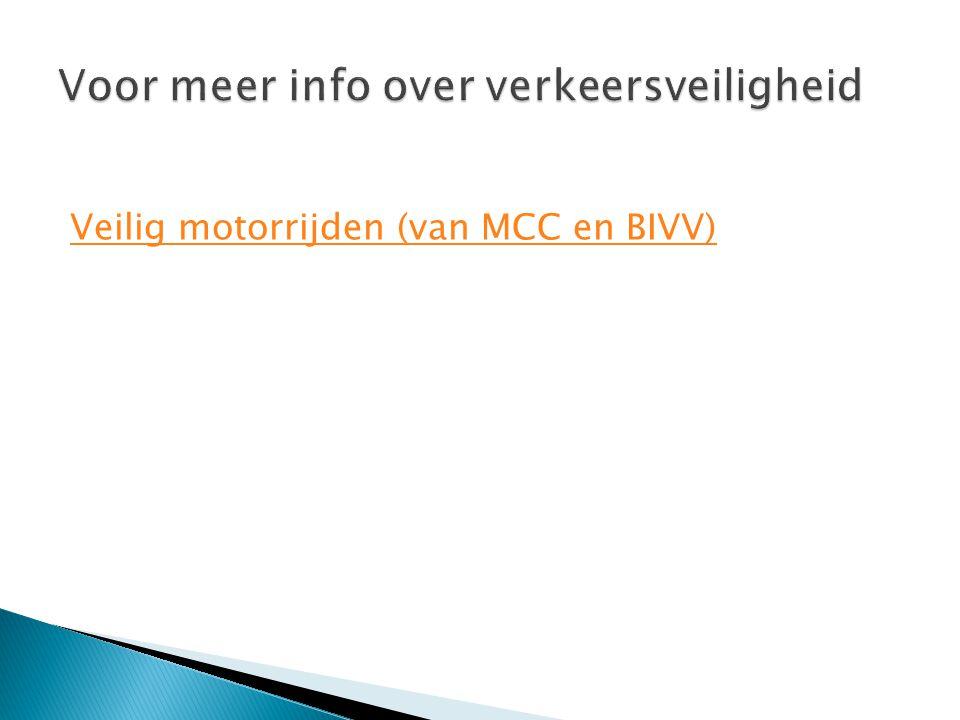 Veilig motorrijden (van MCC en BIVV)