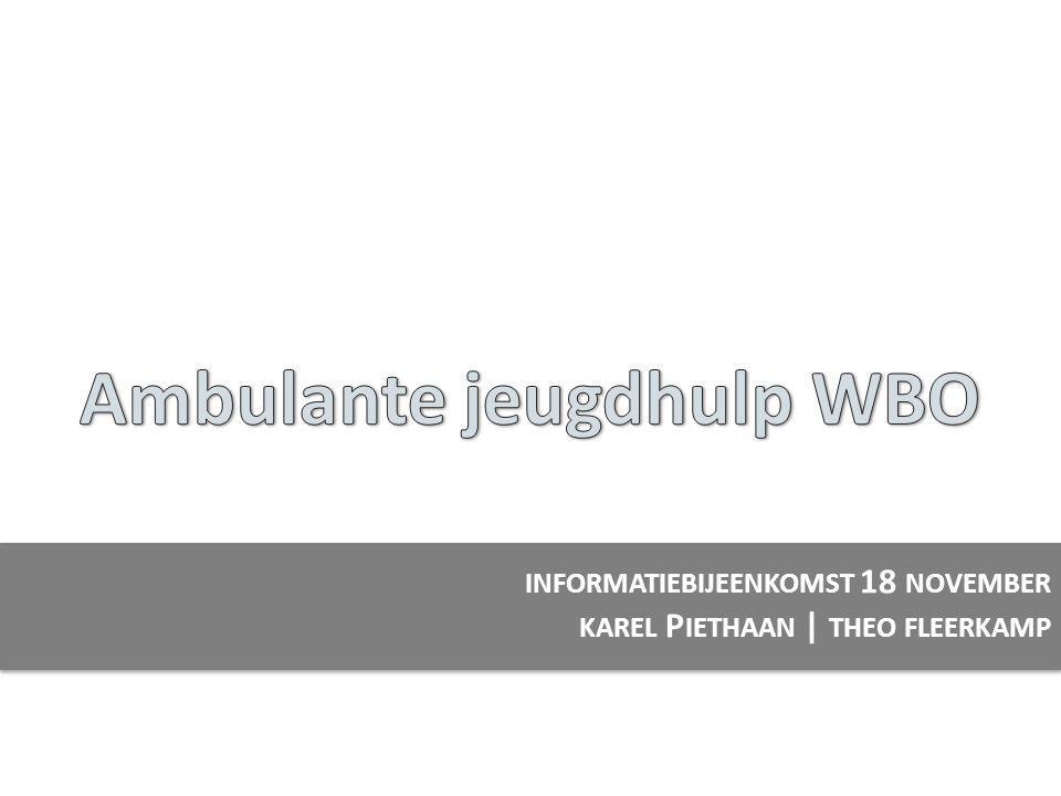 INFORMATIEBIJEENKOMST 18 NOVEMBER KAREL P IETHAAN | THEO FLEERKAMP
