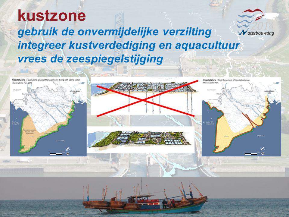 13 november 201413 Waterbouwen en onderhouden 13 november 201413 Waterbouwen en onderhouden 13 november 201413 Waterbouwen en onderhouden kustzone gebruik de onvermijdelijke verzilting integreer kustverdediging en aquacultuur vrees de zeespiegelstijging