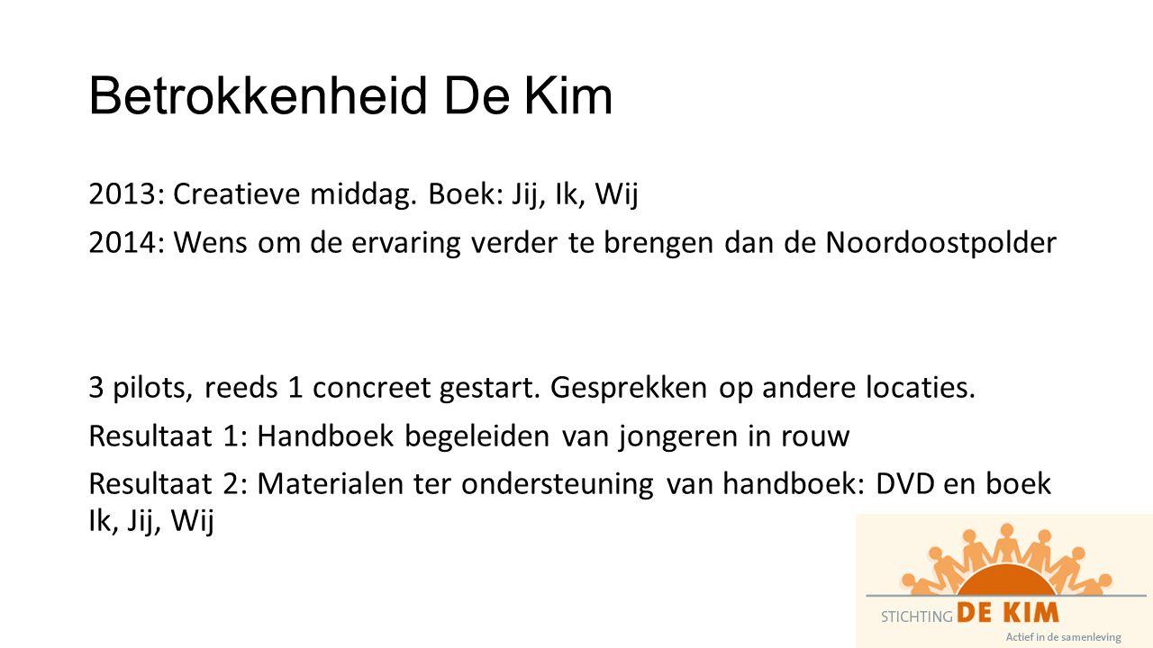Betrokkenheid De Kim 2013: Creatieve middag.